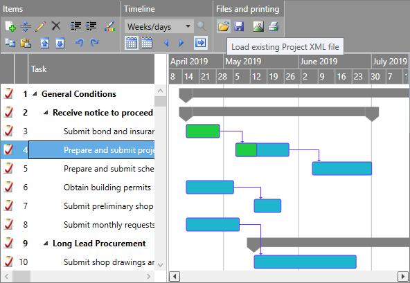Gantt Chart Light Library For Wpf And Silverlight Dlhsoft