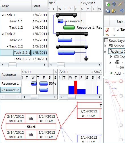 Click to view Gantt Chart Light Library 4.3.33 screenshot