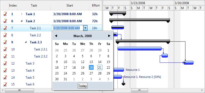 Project management library for wpf dlhsoft ganttcharttasklistview ccuart Images